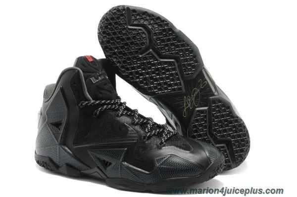 New All Black Basketball shoes Nike Air Max LeBron James 11 P.S ELIT