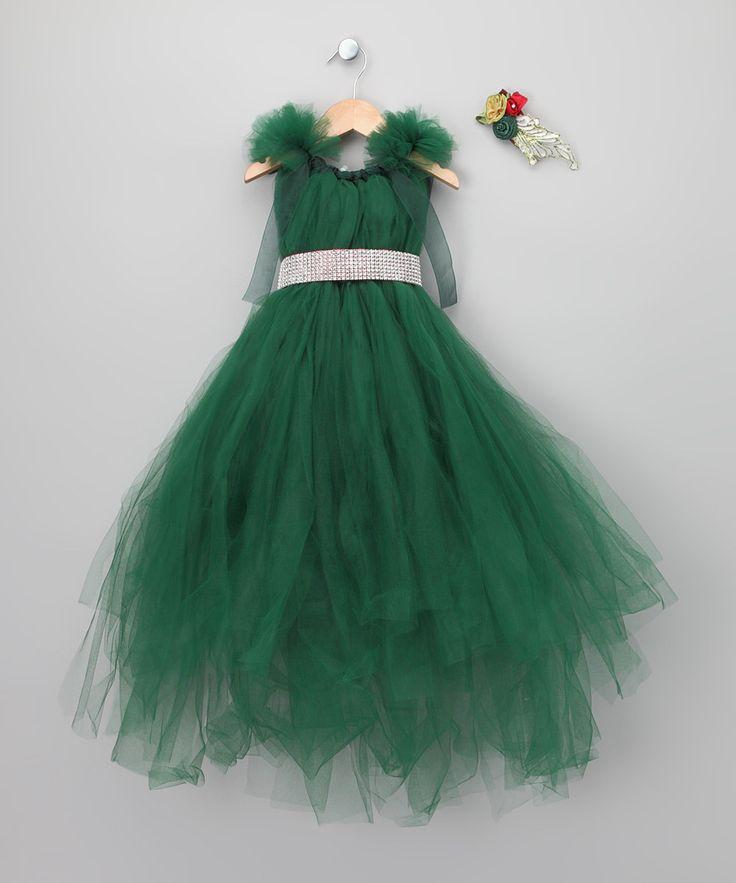 Girls Green Christmas Dress photos