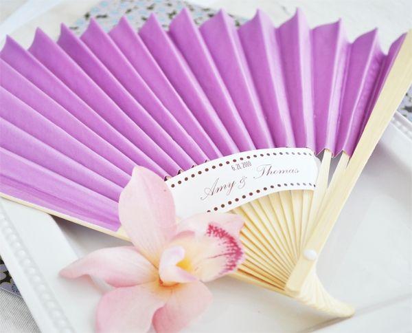 Colored Paper Fans Wedding Favors