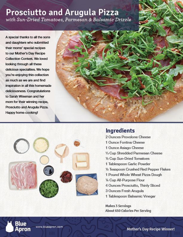 Prosciutto and Arugula Pizza - Mother's Day Contest Winner