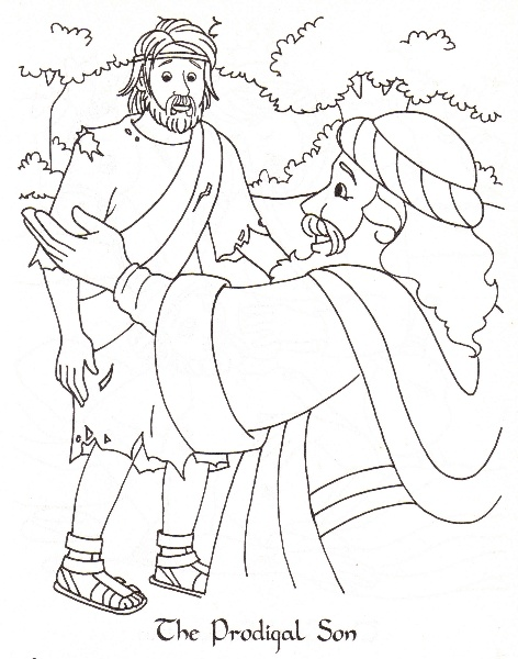 the prodigal son coloring pages - photo#5