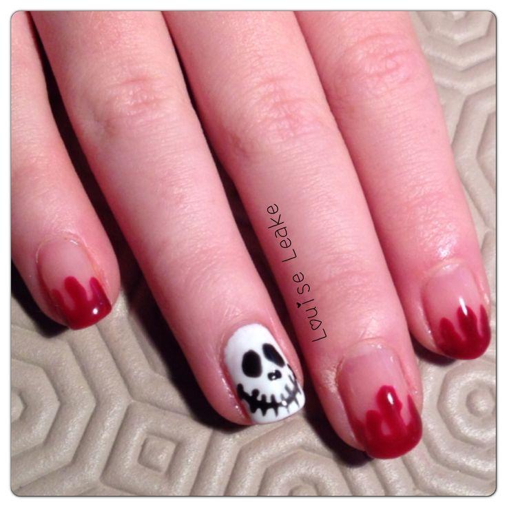 Halloween shellac nail. By Louise Leake | Shellac Nails & designs