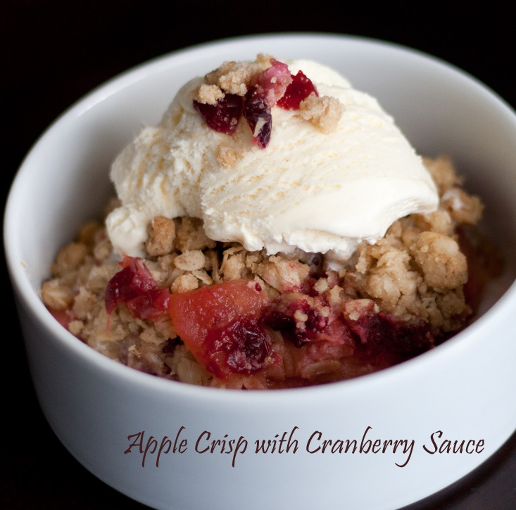 Apple Crisp with Cranberry Sauce - a great way to use up leftover ...