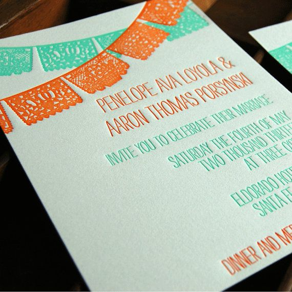 Papel Picado Wedding Invitations is one of our best ideas you might choose for invitation design