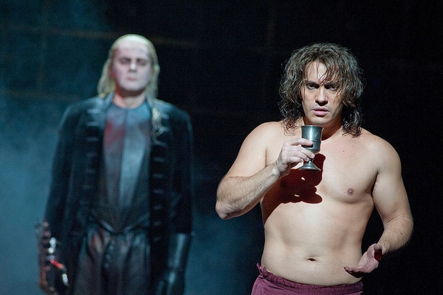 Reinhard Hagen as Commendatore and Erwin Shrott as Don Giovanni by Royal Opera House Covent Garden, (June 2012)