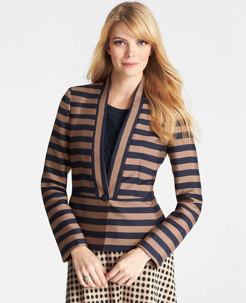 Regents Striped Peplum Jacket