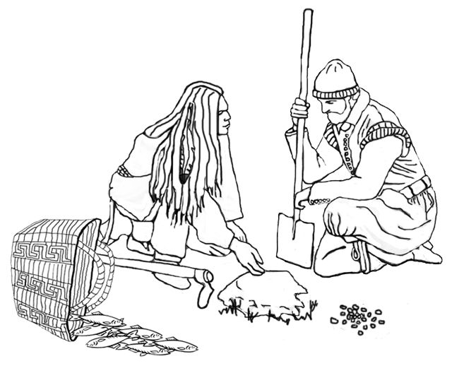 The Three Sisters Native American Coloring Pages