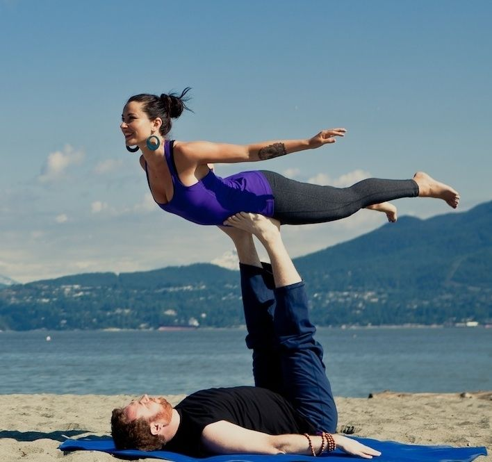 Beach Yoga Pose Couple Yoga on The Beach