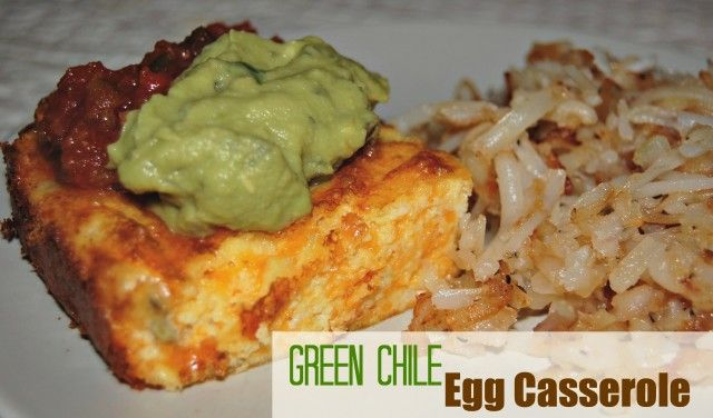 What's not to love? Green Chile Egg Casserole from CuttingBackKitchen ...