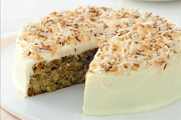 Looks divine... hummingbird cake with cream cheese frosting!
