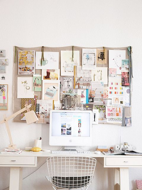 Operation Organize: 6 Tips for a Chic and Tidy Desk- love inspiration board idea!