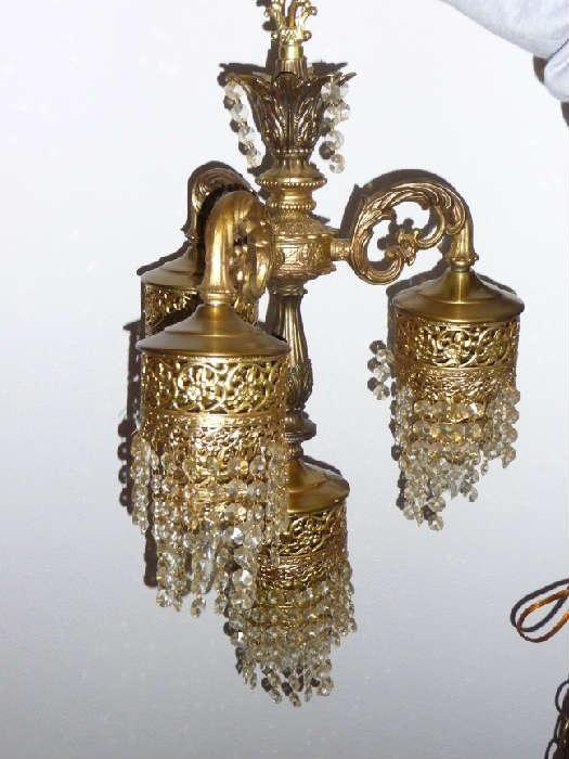 Netdrop Lighting Fixtures : Found on EstateSales.NET: hanging light fixture with small crystal ...