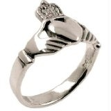 Silver Claddagh 'Love Loyalty Friendship' Ring