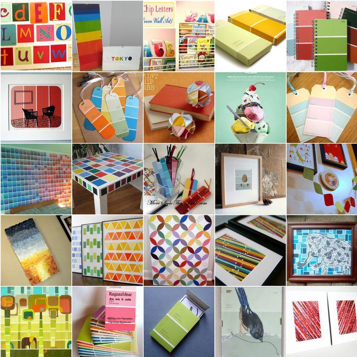 25 paint chip projects slideshow. Black Bedroom Furniture Sets. Home Design Ideas