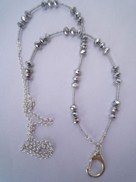 silver lanyard