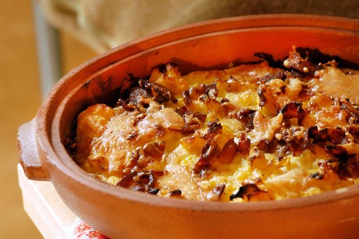 bacon potato gratin with gruyere bacon and leeks cauliflower gratin ...