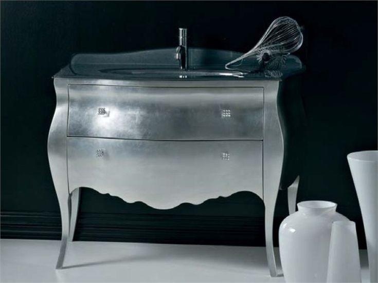Baños Estilo Tradicional:Mueble bajo lavabo lacado de estilo tradicional con cajones BELLAGIO 2