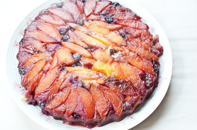 peach and blueberry coffee cake | treats | Pinterest