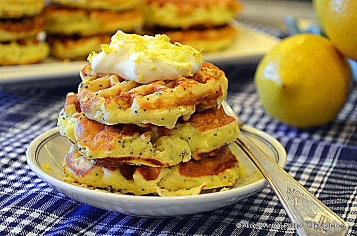 Poppy Seed Lemon Cheesecake Waffles | Pancakes, Waffles, French Toast ...