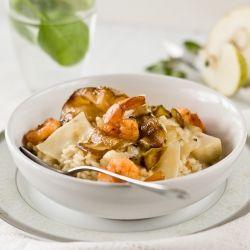 Pear, Shrimp & Gorgonzola Risotto - a dainty dish for gourmets!