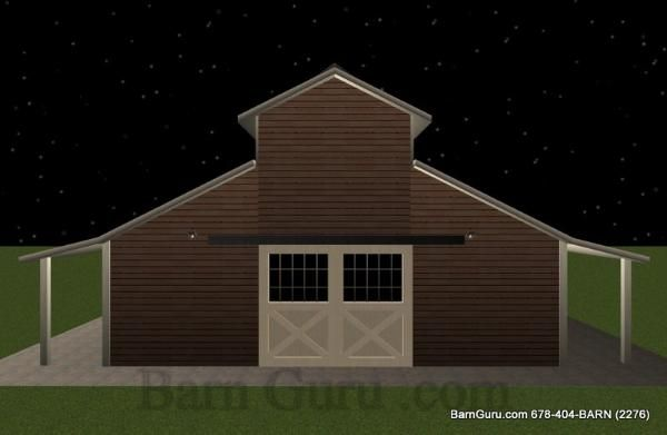4 Stall Horse Barn Plan Stables Barns And Other Horse
