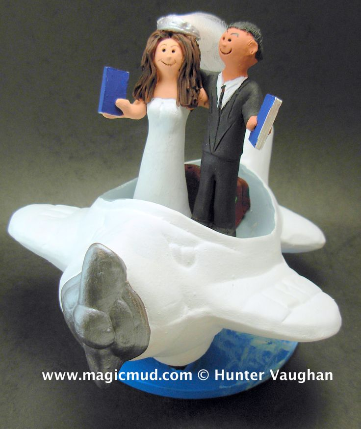 Pin By Wedding Cake Toppers On Airplane Wedding Cake Toppers