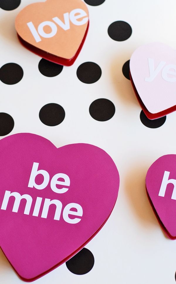 DIY Conversation Heart Candy Boxes | || Crafty || | Pinterest