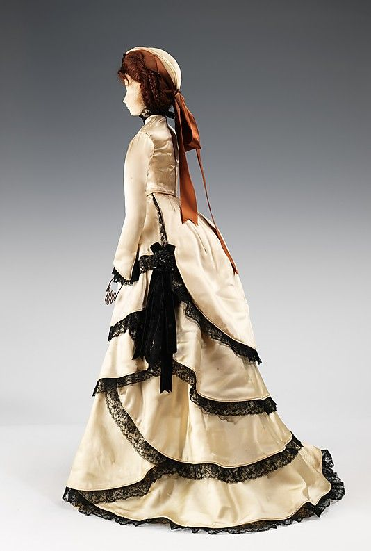 1870 Doll by House of Balenciaga (metal, plaster, hair, silk, jet), 1949. MMA