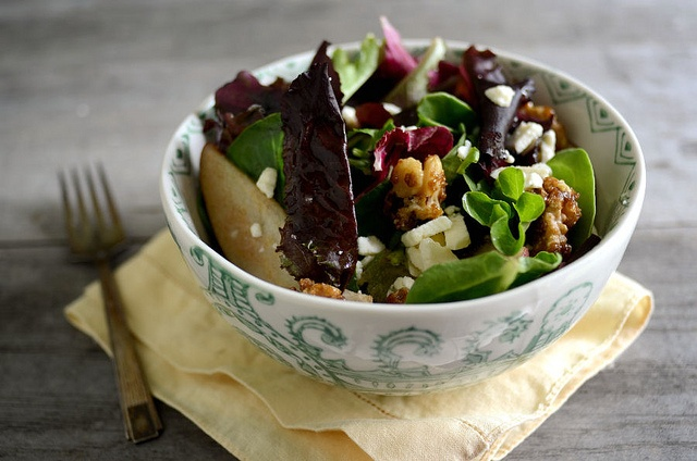 Pear Gorgonzola Salad with Sugared Walnuts on Cooking for Seven!