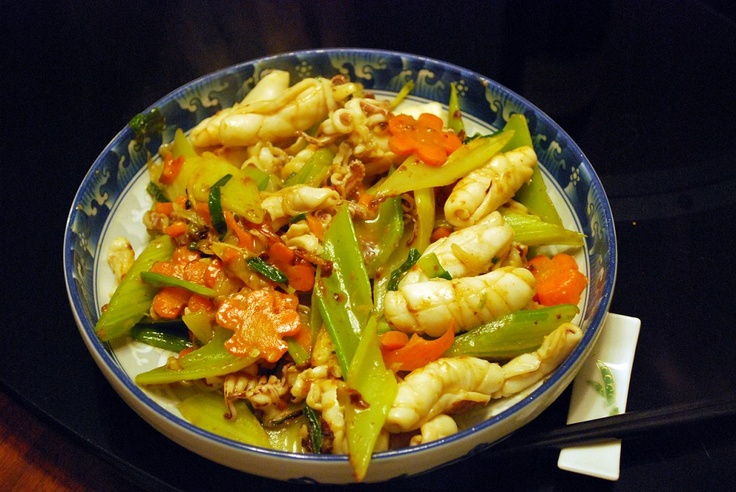 herbs squid and celery stir fry squid and vegetable stir fry recipe ...