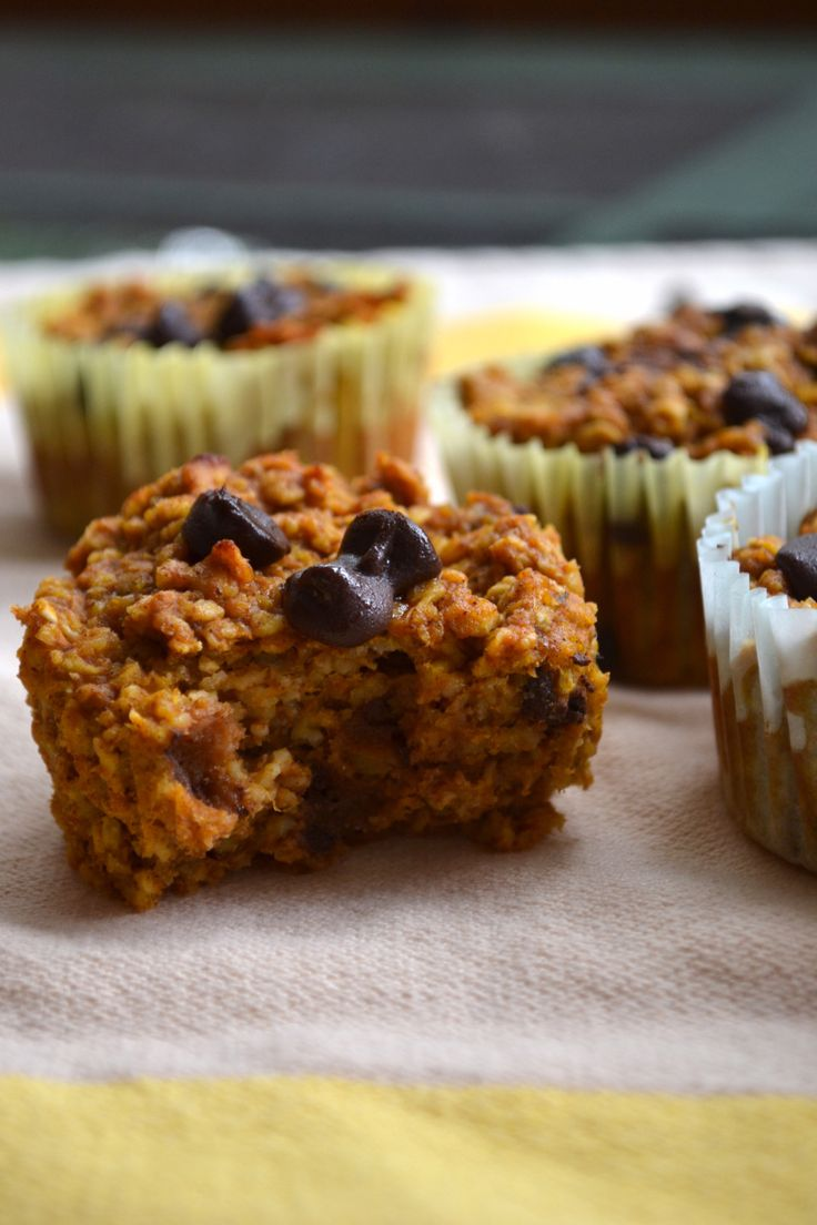 Banana pumpkin oatmeal muffins | GF / dairy free recipes | Pinterest