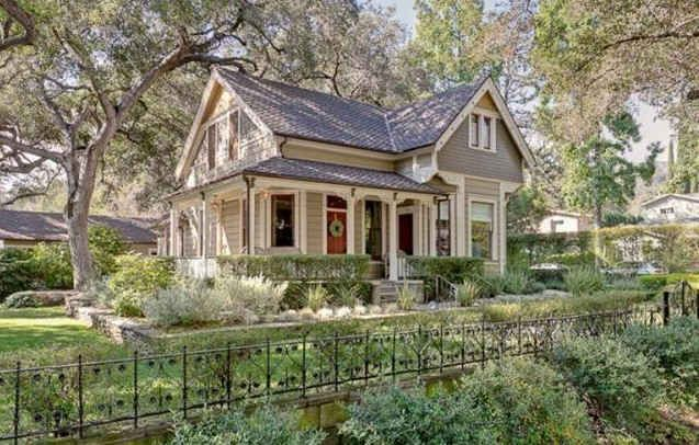 A victorian cottage for sale in pasadena for Queen anne cottage house plans