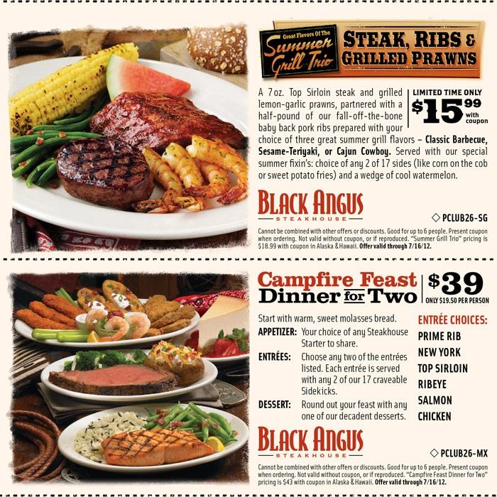 Black angus coupons january 2018
