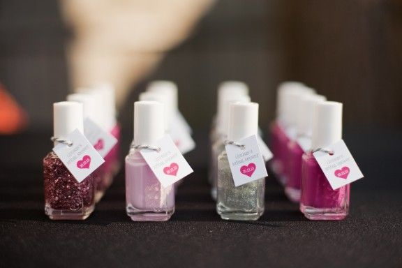 bridal shower favors, essie- do the colors of the wedding so that everyones nail