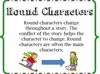 round or flat characters Character types worksheet 2 directions: read the short story is lawrence a round or flat character _____ explain your answer 5 is the ghost of.
