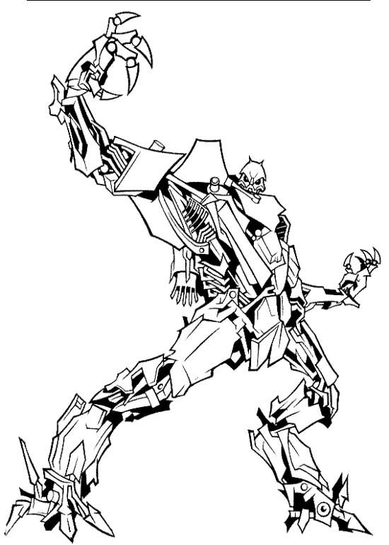 transformers fighting coloring pages - photo#10