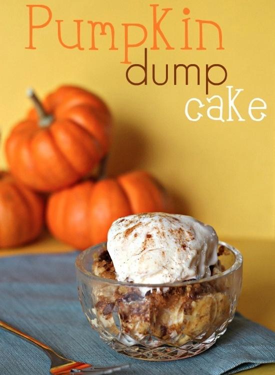 Pumpkin Dump Cake - so easy. so delicious.