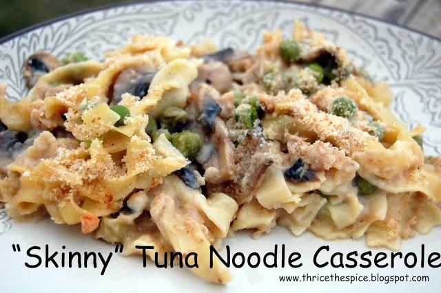 ThriceTheSpice: Skinny Tuna Noodle Casserole