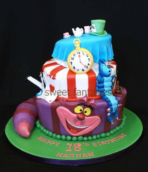 alice and wonderland cake