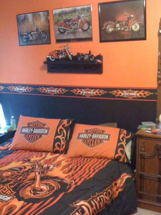 Simple 90 Harley Davidson Orange Interior Wall Paint