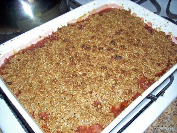 Apple Rhubarb Crisp | Recipe