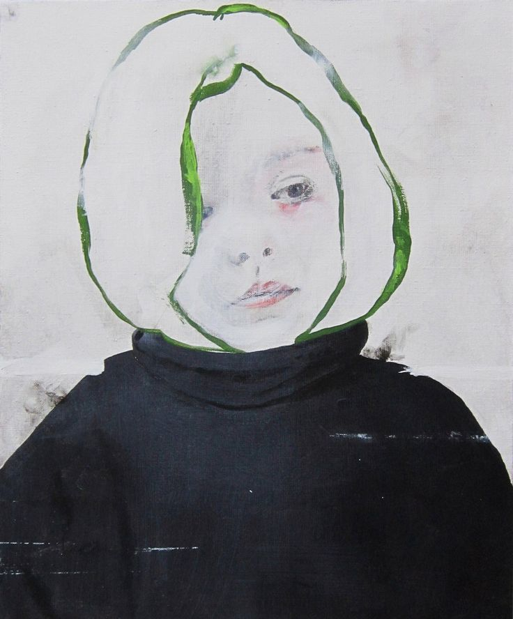 milk tooth by antoine corset; acrylic on canvas