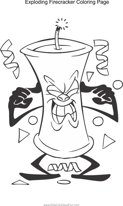 Firecracker pages coloring pages for Firecracker coloring page