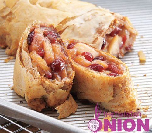 Apple-Cranberry Strudel #Recipe | Recipes to Cook | Pinterest
