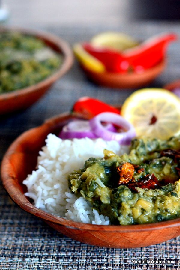 DAL PALAK | SPINACH LENTIL CURRY seasoned with cumin & garlic + A ...