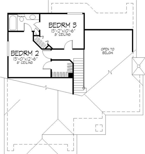 Floor Plan Second Story With Jack Jill Bathroom