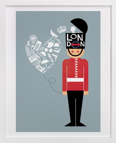 I Left My Heart In London by Bonjour Berry at minted.com