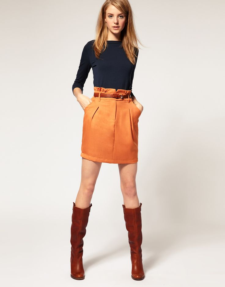 vila mini skirt with gathered frilled waist (but really the whole outfit)