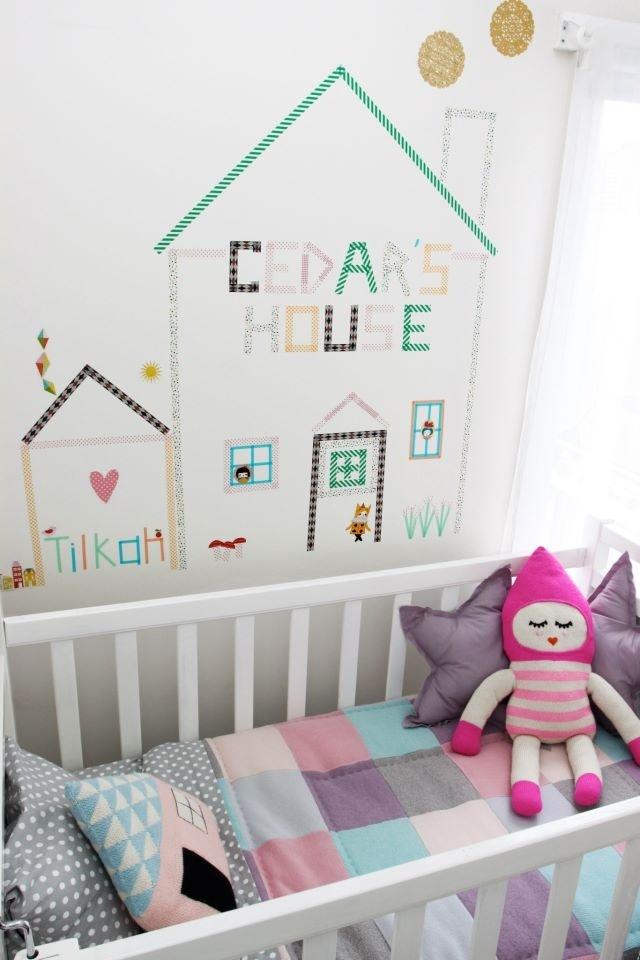 mommo design washi tape wall decor. Black Bedroom Furniture Sets. Home Design Ideas