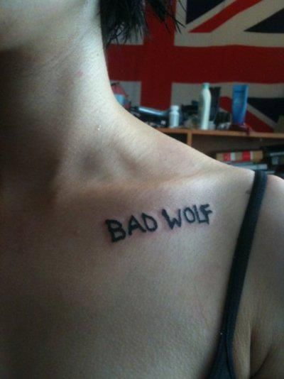 bad wolf tattoo